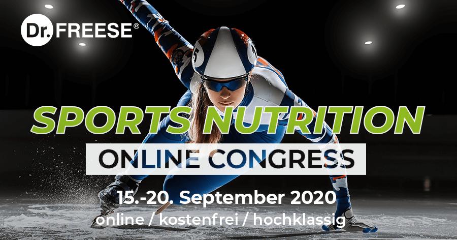 Kostenloser online Kongress: Sports Nutrition – 15.9. bis 20.9.2020