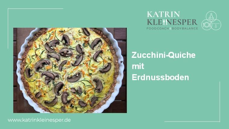 Rezept: Zuchini-Quiche mit Erdnussboden
