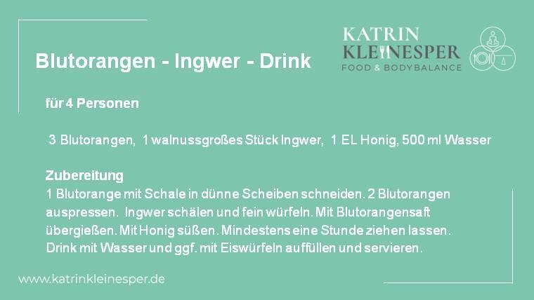 Blutorangen-Ingwer-Drink