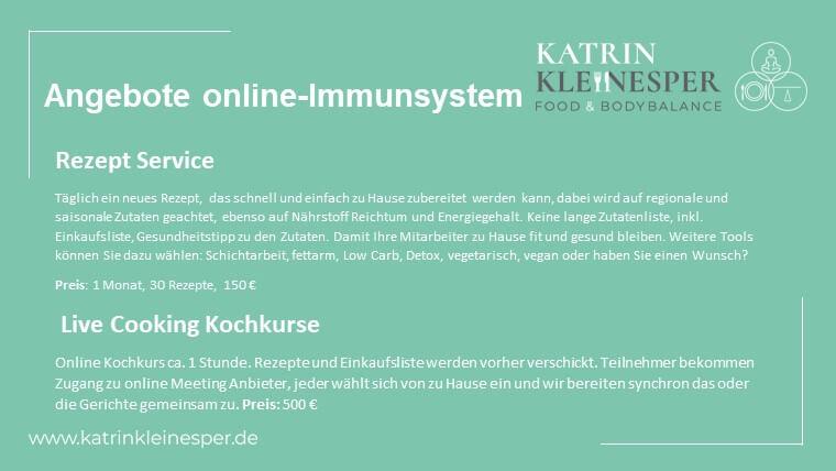 Neue Angebote Ernährung online – Immunsystem
