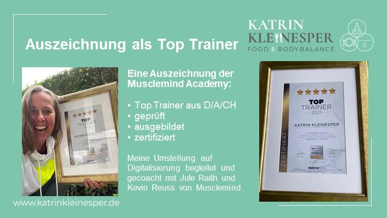 Auszeichnung zum TOP Trainer